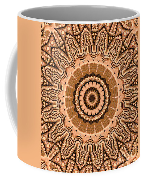 Kaleidoscope Coffee Mug featuring the digital art Kaleidoscope 15 by Ron Bissett