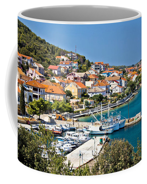 Croatia Coffee Mug featuring the photograph Kali Small Fishermen Town Harbor by Brch Photography
