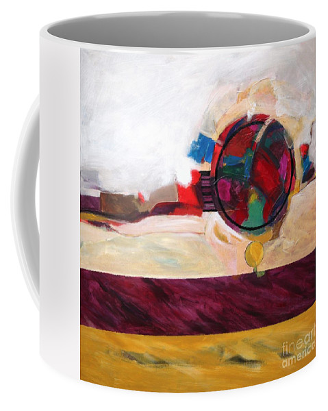 Abstract Coffee Mug featuring the painting Karma by Marlene Burns