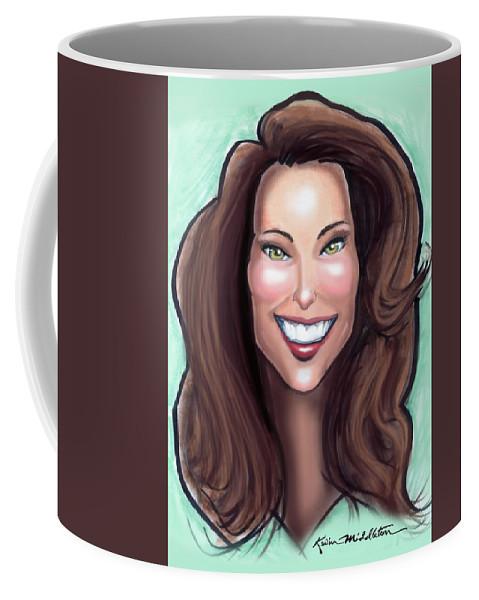 Kate Middleton Coffee Mug featuring the painting Kate Middleton by Kevin Middleton
