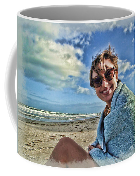Portrait Coffee Mug featuring the photograph Katie And The Beach by Joan Minchak