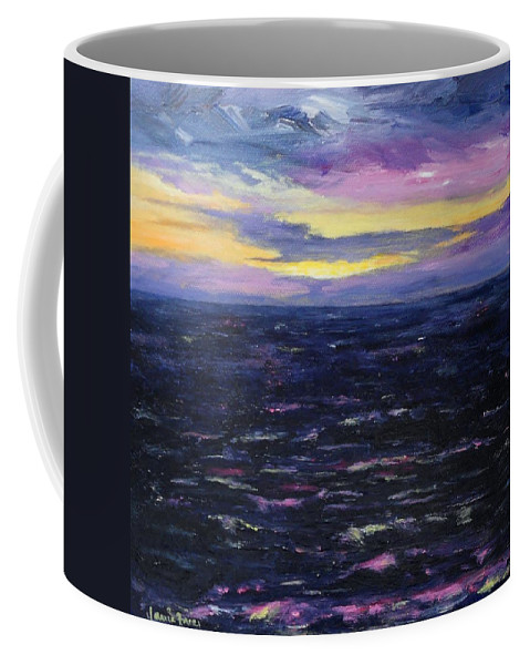 Kauai Coffee Mug featuring the painting Kauai Sunset by Jamie Frier