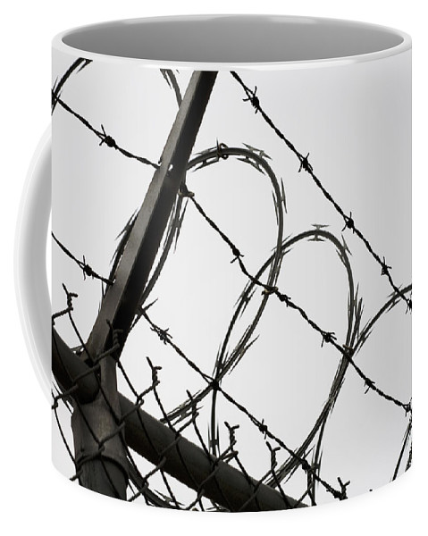Adversity Coffee Mug featuring the photograph Keep Out by Diane Macdonald