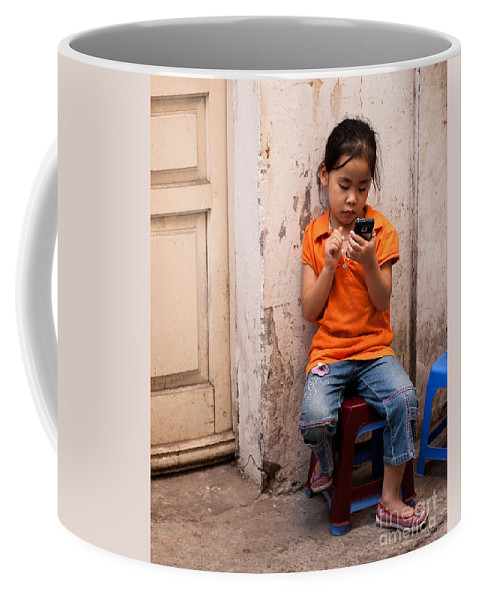 Young Coffee Mug featuring the photograph Keeping In Touch by Rick Piper Photography