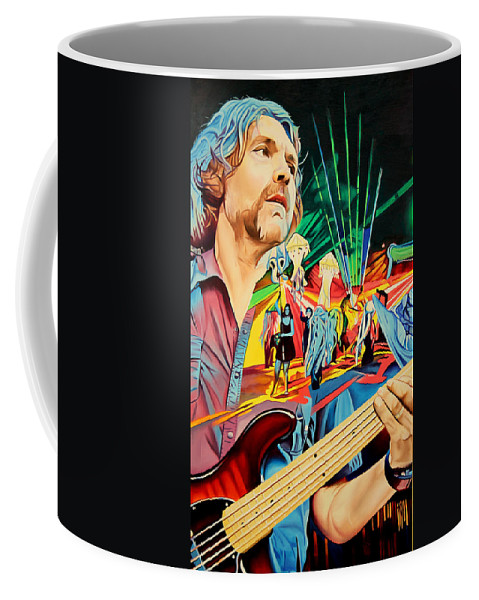 The String Cheese Incident Coffee Mug featuring the painting Keith Moseley At Horning's Hideout by Joshua Morton