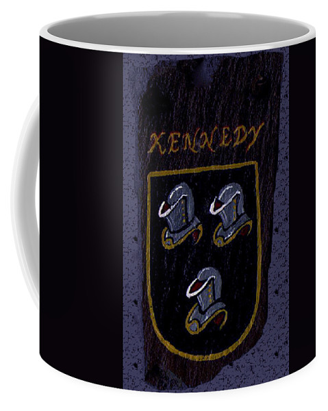 Family Shield Coffee Mug featuring the painting Kennedy Crest by Barbara McDevitt
