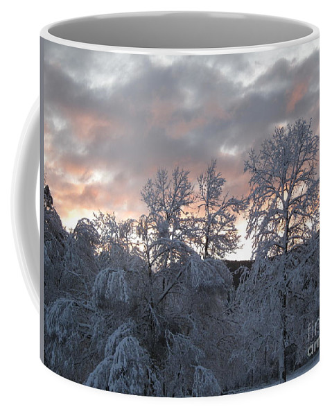Blizzard Coffee Mug featuring the photograph Kent Ct Oct 2011 by HEVi FineArt