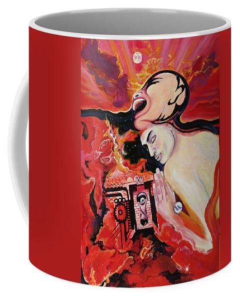 Passion Coffee Mug featuring the painting Keyhole by Yelena Tylkina