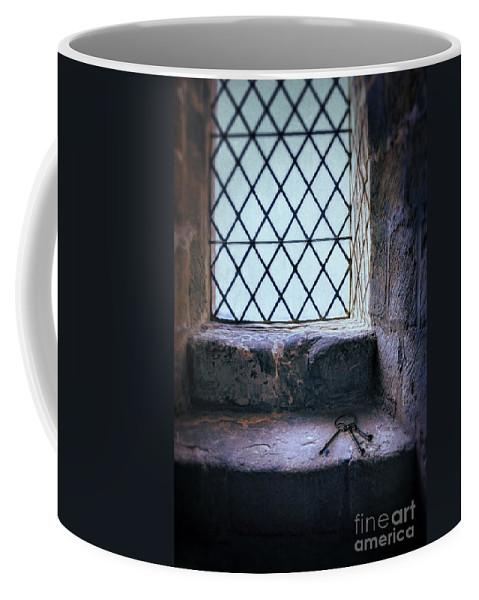 Window Coffee Mug featuring the photograph Keys On Stone Windowsill by Jill Battaglia