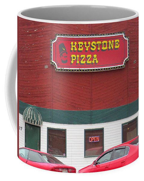Blurred Coffee Mug featuring the photograph Keystone Pizza by Dart and Suze Humeston