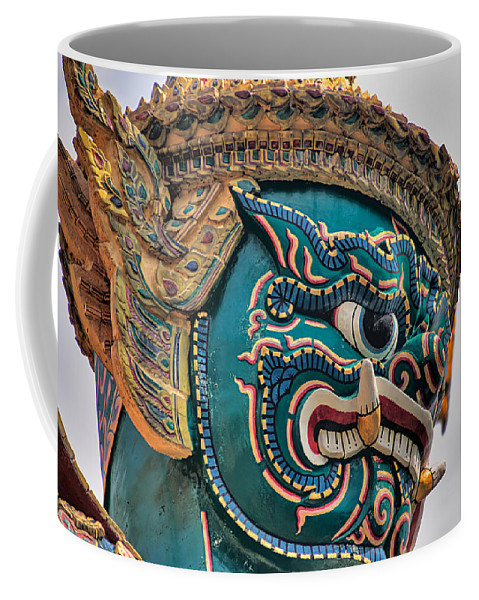 3scape Coffee Mug featuring the photograph Khmer Guard by Adam Romanowicz