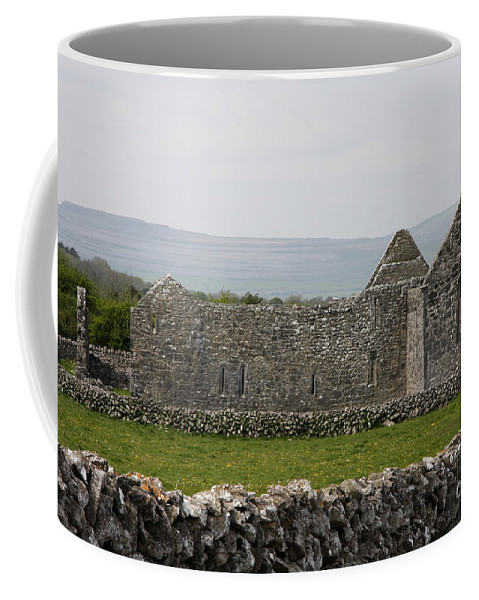 Kilmacduagh Church Ruin Coffee Mug featuring the photograph Kilmacduagh Church Ruin by Christiane Schulze Art And Photography