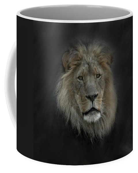 Lion Coffee Mug featuring the photograph King Of Beasts Portrait by Ernie Echols