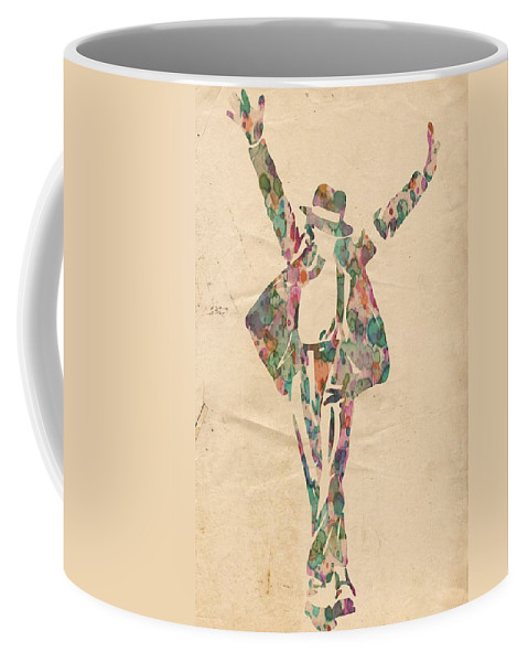 Michael Jackson Coffee Mug featuring the painting King of Pop In Concert no 11 by Florian Rodarte
