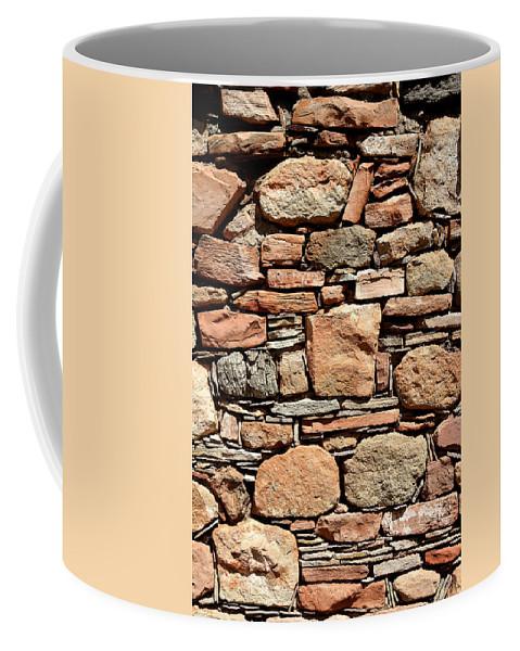 Masonry Coffee Mug featuring the photograph Kinishba Masonry by Joe Kozlowski