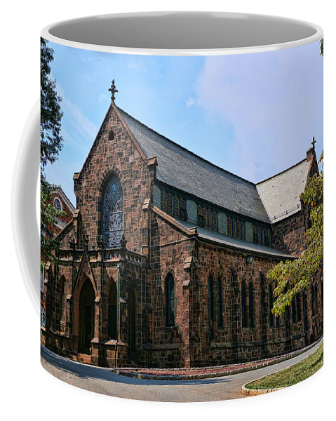 Rutgers Coffee Mug featuring the photograph Kirkpatrick Chapel by Allen Beatty