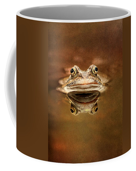 Toad Coffee Mug featuring the mixed media Kiss Me by Heike Hultsch