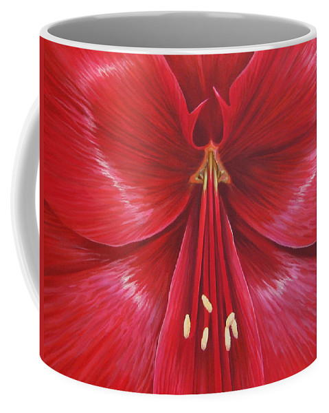 Botanical; Flower Coffee Mug featuring the painting Kiss Of Life by Hunter Jay