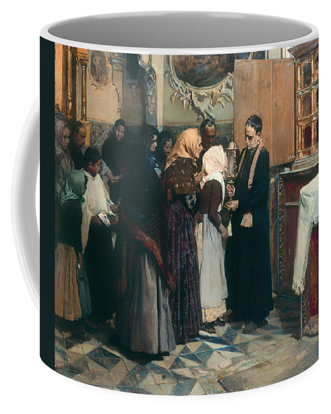 Painting Coffee Mug featuring the painting Kissing The Relic by Mountain Dreams