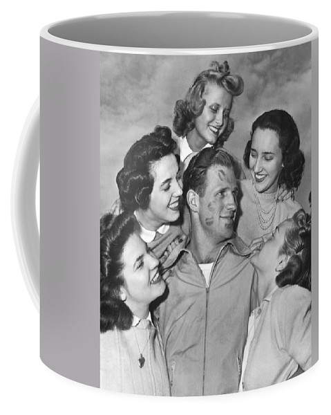 1930s Coffee Mug featuring the photograph Kissoff For The Navy by Underwood Archives