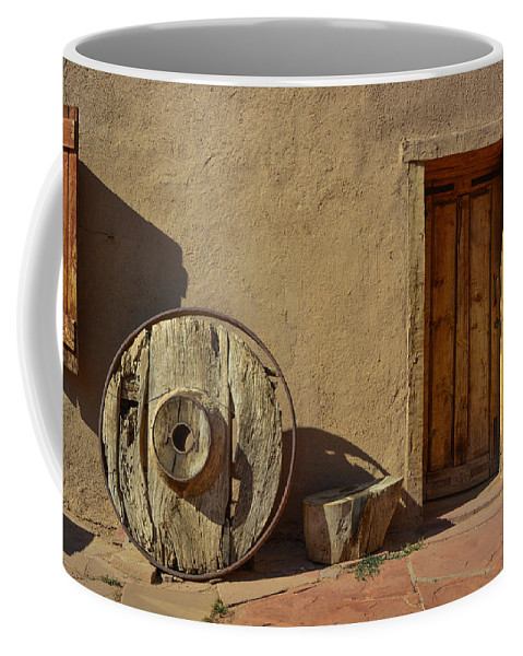 New Mexico Coffee Mug featuring the photograph Kit Carson Home Taos New Mexico by Jeff Black