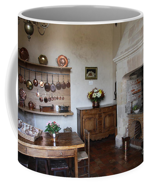 Kitchen Coffee Mug featuring the photograph Kitchen At Chateau Villandry by Christiane Schulze Art And Photography