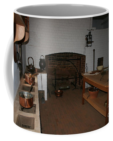 Kitchen Coffee Mug featuring the photograph Kitchen At Monticello by Christiane Schulze Art And Photography