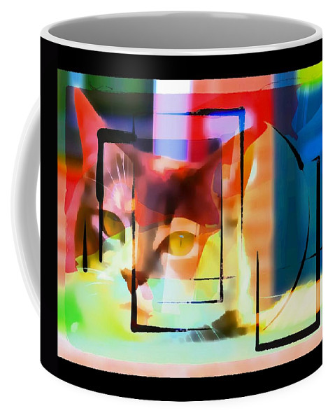 Cat Coffee Mug featuring the photograph Kitty Eyes by Alice Gipson