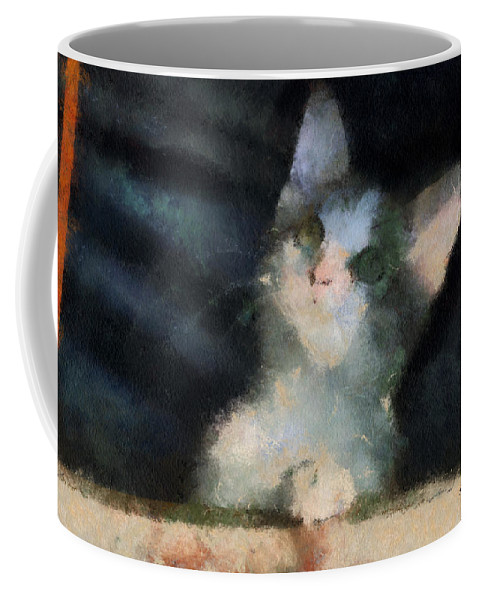 Cat Coffee Mug featuring the photograph Kitty Photo Art 05 by Thomas Woolworth