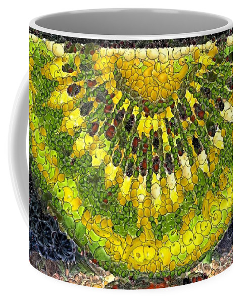 Fruits Coffee Mug featuring the digital art Kiwi Slice by Dragica Micki Fortuna