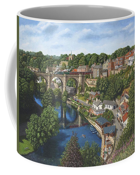 Landscape Coffee Mug featuring the painting Knaresborough Yorkshire by Richard Harpum