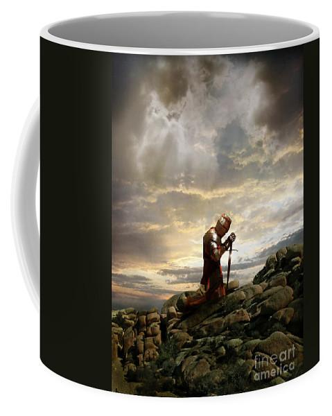 Knight Coffee Mug featuring the photograph Kneeling Knight by Jill Battaglia