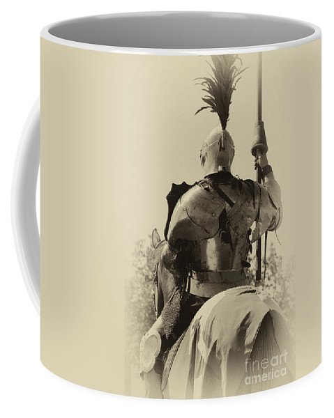 Joust Coffee Mug featuring the photograph Knight 6 by Bob Christopher