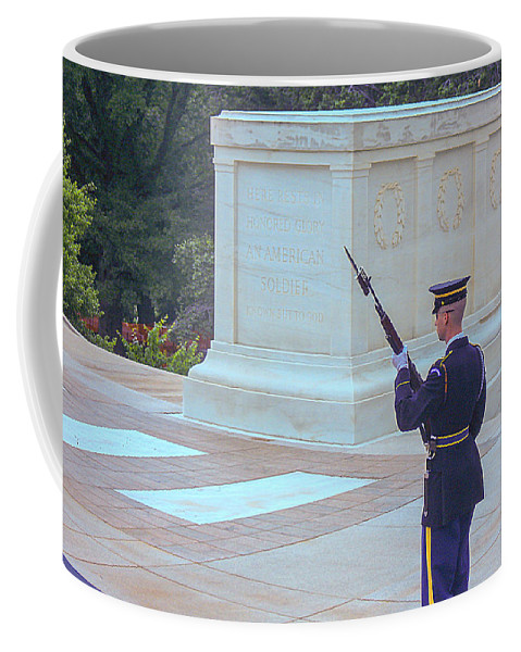 Tomb Of The Unknown Soldier Coffee Mug featuring the photograph Known But To God by J Allen