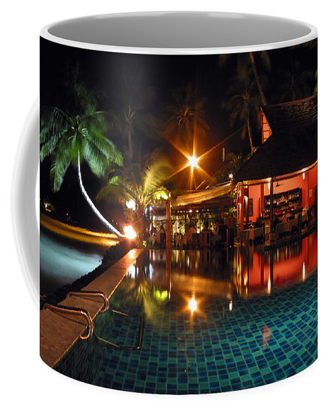3scape Coffee Mug featuring the photograph Koh Samui Beach Resort by Adam Romanowicz