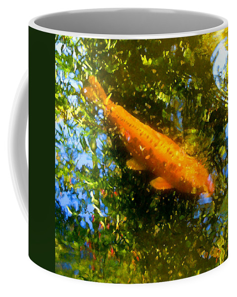 Animal Coffee Mug featuring the painting Koi Fish 1 by Amy Vangsgard