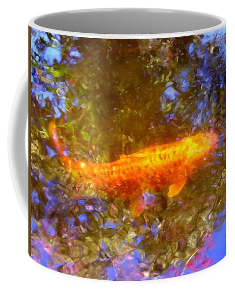 Animal Coffee Mug featuring the painting Koi Fish 2 by Amy Vangsgard