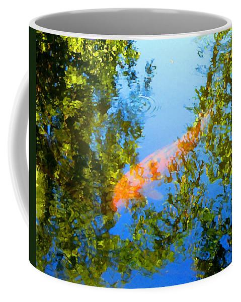 Animal Coffee Mug featuring the painting Koi Fish 3 by Amy Vangsgard