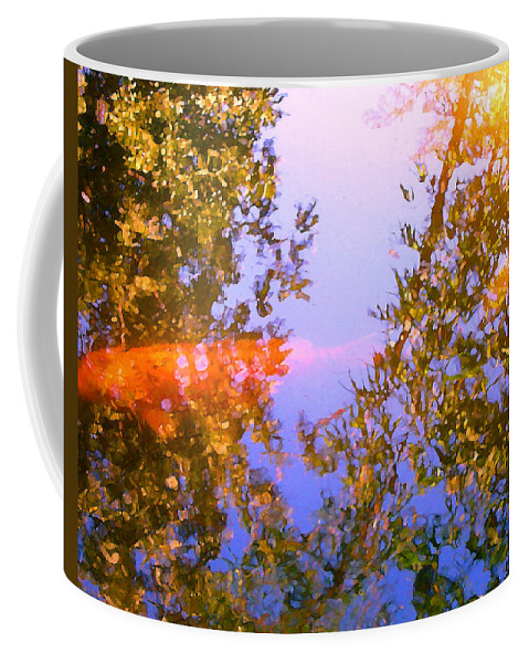 Animal Coffee Mug featuring the painting Koi Fish 4 by Amy Vangsgard