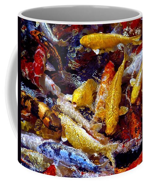 Koi Coffee Mug featuring the photograph Koi Pond by Marie Hicks