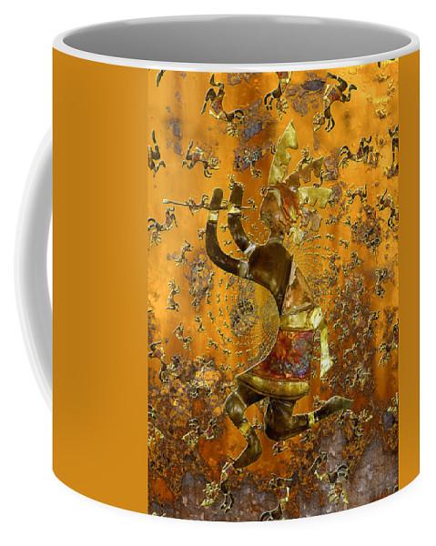 Kokopelli Coffee Mug featuring the photograph Kokopelli by Kurt Van Wagner