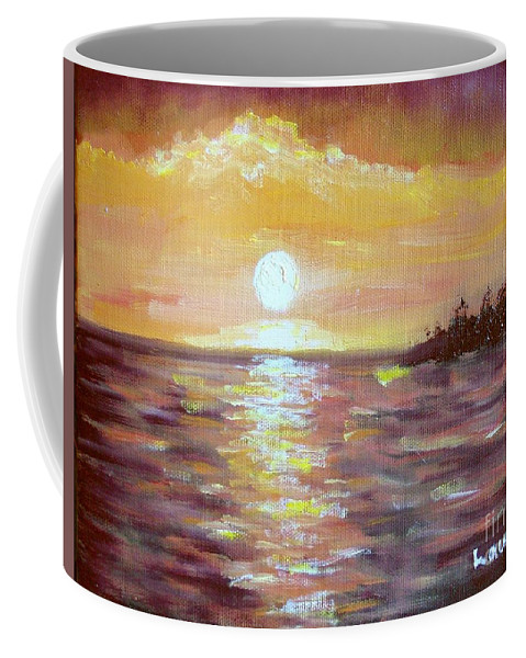 Sunset Coffee Mug featuring the painting Kona Sunset by Laurie Morgan