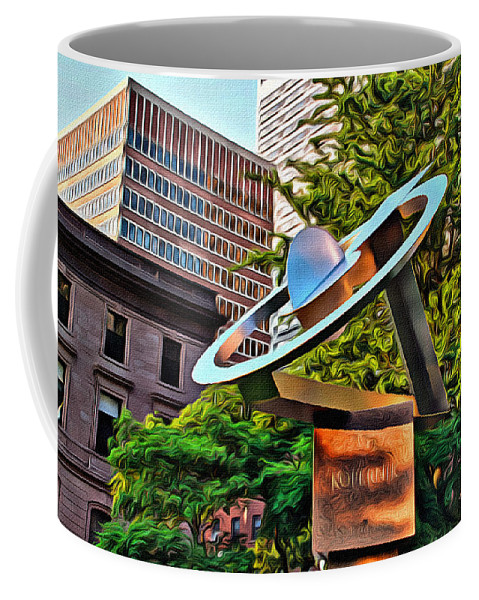 Koperlink Coffee Mug featuring the photograph Koperlink In Philly by Alice Gipson