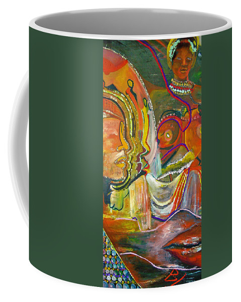 Impressionism Coffee Mug featuring the painting Koulikoro Woman by Peggy Blood