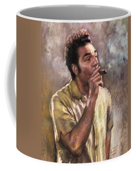 Kramer Coffee Mug featuring the pastel Kramer by Ylli Haruni