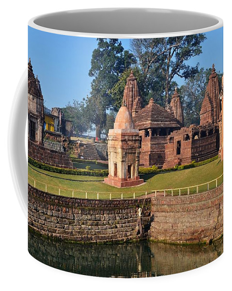 Temple Coffee Mug featuring the photograph Kund At Ancient Hindu Temple Complex - Amarkantak India by Kim Bemis