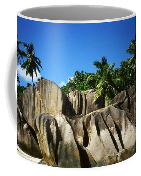 Ocean Coffee Mug featuring the photograph La Digue Island - Seychelles by Juergen Weiss