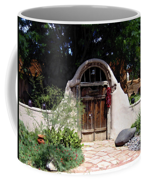 Doors Coffee Mug featuring the photograph La Entrada A La Casa Vieja De Mesilla by Kurt Van Wagner