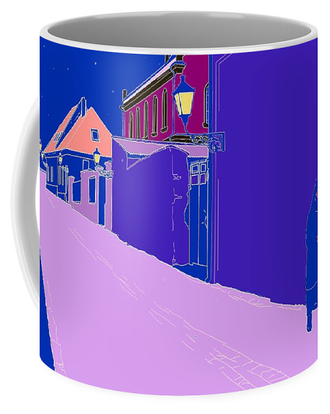 Old Village Coffee Mug featuring the photograph La Rue Rose by I'ina Van Lawick