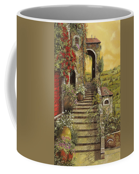 Arch Coffee Mug featuring the painting La Scala Grande by Guido Borelli